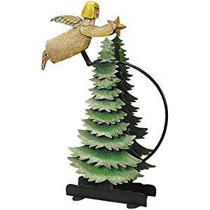 Angel Sky Hook - Metal Balance Toy - Features Hand-Painted Angel on Recycled Metal Stand - Authentic Models TM095