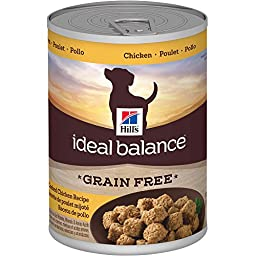 Hill\'s Ideal Balance Adult Grain Free Slow-Cooked Chicken Recipe Canned Dog Food, 12.8 oz, 12-pack