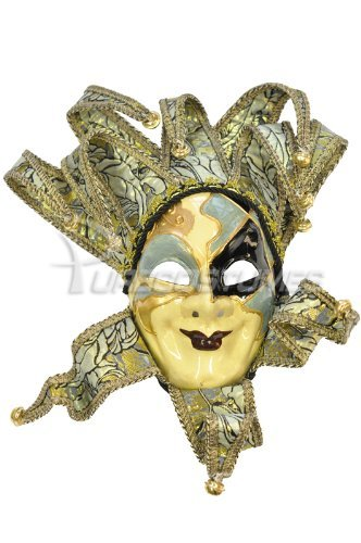 Royal Court Jester Mask (Blue)