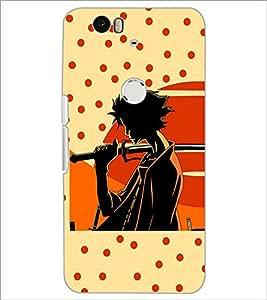 PrintDhaba Sword Boy D-2993 Back Case Cover for HUAWEI NEXUS 6P (Multi-Coloured)