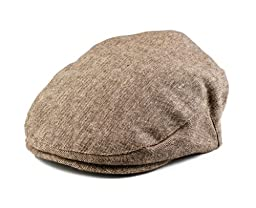 Born To Love Boy\'s Tan and Brown Newsboy Cap-XS(12-24 months 48 CM)