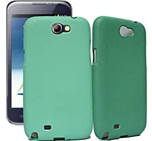 ECellStreet Samsung Galaxy Note 2 II N7100 Exclusive Neon Collection Green 2 Rubbersied Soft Back Case Cover Back Cover
