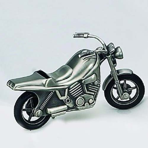 Elegance Pewter Plated Motorcycle Bank