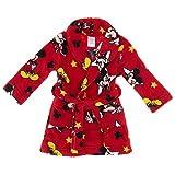 Disney Little Boys' Mickey Mouse Red Bath Robe
