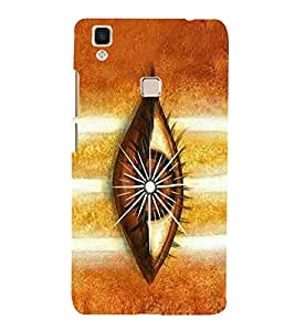 Vishveshwara Shiva 3rd Eye 3D Hard Polycarbonate Designer Back Case Cover for VIVO V3 MAX