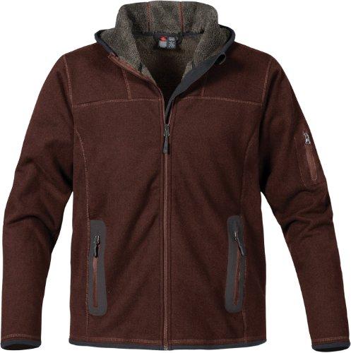 Stormtech ST610 Polyester Men's Bonded Fleece Full Zip Hoodie Jacket, XX-Large, Slate Brown