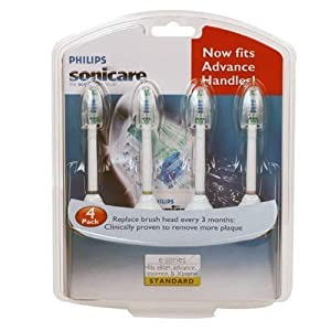 Philips Sonicare E Series Replacement Head 4 Pack Standard