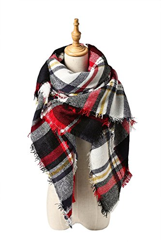 Absolutely Perfect Winter Warm Vintage Style Cashmere Feel Large Tartan Scarf K Red (Fry Boots Red compare prices)