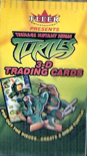 Vintage Teenage Mutant Ninja Turtles 3D Trading Cards with Collectible Leonardo Figure - 1