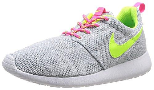 Nike Rosherun GS Scarpe Sportive, Ragazzo, Pr Platinum/Vlt-Pnk Pw-Bl Lgn, 38.5