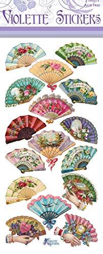 Violette Stickers Victorian Fans