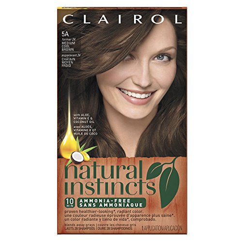 Clairol Natural Instincts, 5A / 24 Clove Medium Cool Brown, Semi-Permanent Hair Color, 1 Kit (Pack of 3) (Clairol Color Treat Conditioner 3 compare prices)
