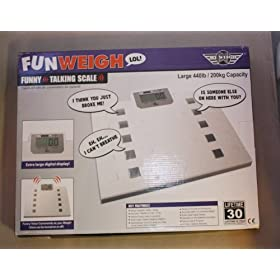 My Weigh FunWeigh Fun Talking Digital Bath Bathroom Weight Scale 440 Lb Capacity