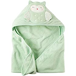Baby Girl Owl Mint Green Hooded Towel