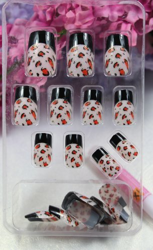 ggsell tac hohe qualit t neues design nail art 24x schwarz. Black Bedroom Furniture Sets. Home Design Ideas