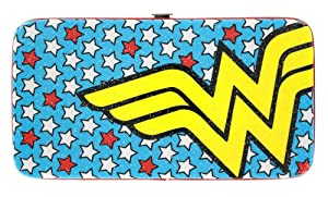 DC Comics Wonder Woman Ladies Metallic Hinge Wallet