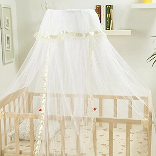 Light Yellow/Pink/Blue Baby Canopy / Mosquito Net No Drilling No Screwing (Yellow) front-339207