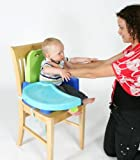 Swing Tray Booster Seat - Green & Blue