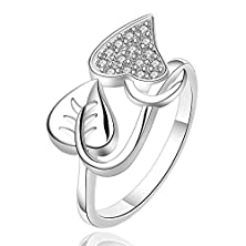 buy Master Jiwelry New Arrivel Usa Euro Style Fashion Silver Plated Leaf And Heart Ring Jewelry Smtr557