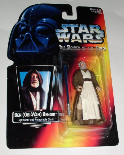 51A82KgWG5L Reviews Star Wars Power of the Force 3.5 inch Action Figure   Ben (Obi Wan) Kenobi with Lightsaber and Removable Cloak