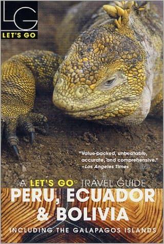 Let's Go 2003: Peru, Ecuador & Bolivia
