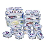 Lock&Lock BPA Free Airtight Container 36-Piece Set 18-Containers - Capacity 40.2 Cups