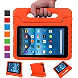 Fire 7 case,Fire 7 2015 Case,TRAVELLOR®Kids Shock Proof Convertible Handle Light Weight Super Protective Stand Cover for Amazon Fire Tablet (7 inch Display, 2015 Release Only)(Orange)