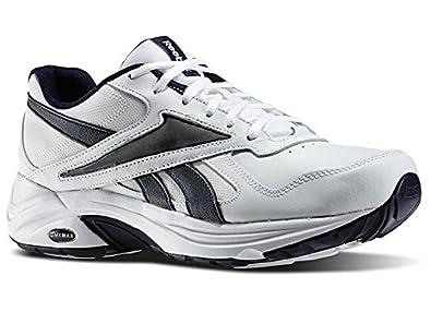 Men's Reebok DMX MAX Mania Walking Shoes in White Blue Cadet Size 9