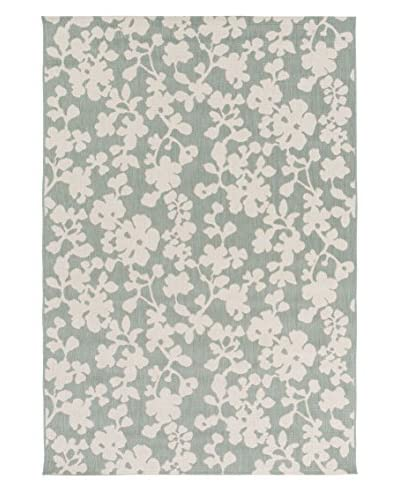 Surya Terrace Floral Indoor/Outdoor Rug  [Moss/Ivory]