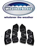 Weatherbeeta Set of 4 Travel Boots - Black/Silver FULL SIZE