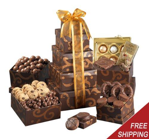 Gourmet Chocolate Gift Tower - Kosher