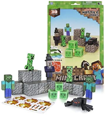 Overworld Hostile Mobs Pack Minecraft Papercraft Kit Series from Jazwares