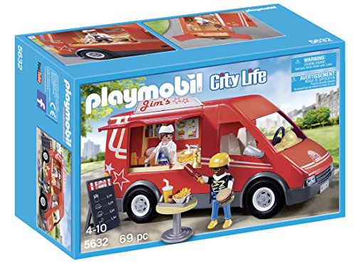Playmobil city food truck playset building kit import it all for Cuisine playmobil