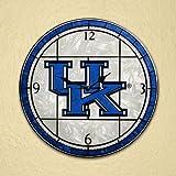 Kentucky Wildcats 12-inch Art Glass Clock-Kentucky