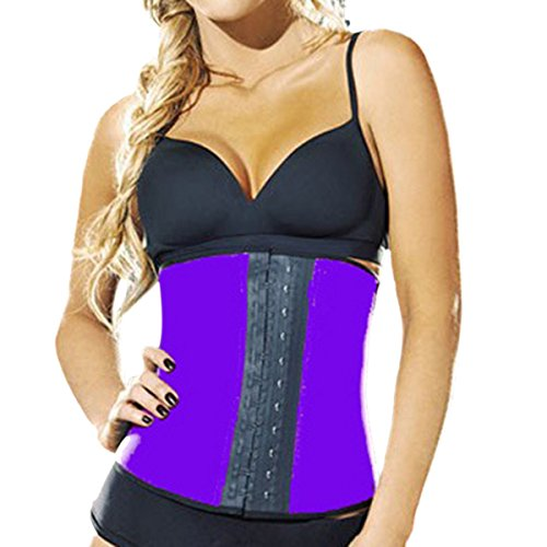 Sasairy Donna Traspirante Sexy Corsetto Steel Vest Modellante Cincher Slim Body Shaper XXX-Large viola