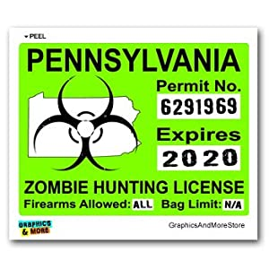Pennsylvania pa zombie hunting license permit for Pa fishing license prices