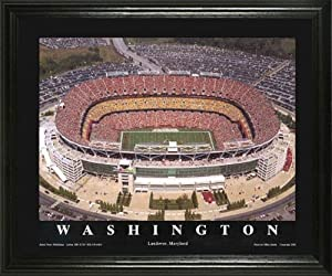Washington Redskins - FedEx Field Aerial - Lg - Framed Poster Print by Laminated Visuals