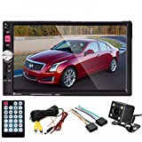 M.Way 7'' HD Bluetooth Capacitive In Dash GPS Navi Navigation Remote Control Stereo Radio 2 DIN FM/MP5/MP3/USB/AUX + Free Backup Reversing Parking Camera (Not Touch Screen)