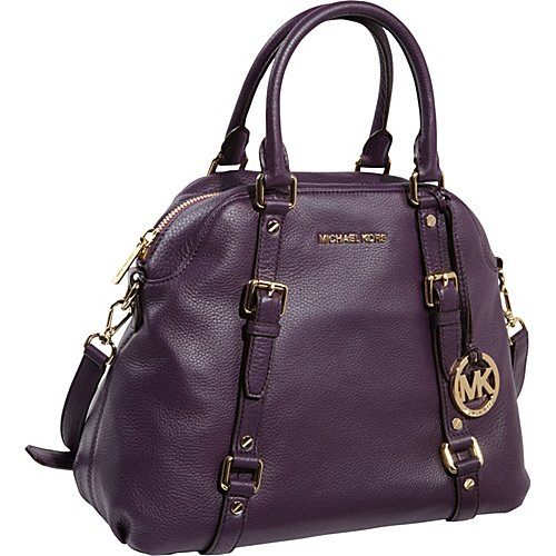 MICHAEL Michael Kors Bedford Large Bowling Satchel Purple