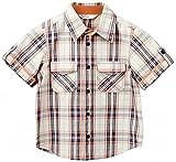 Beebay Boys Cotton Contrast Piping Y/D Shirt (B0213119902315_Beige_9Y)