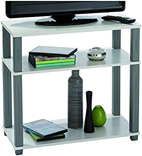 maja 18988835 meuble tv roulettes 800 x 545 x 400 mm blanc uni. Black Bedroom Furniture Sets. Home Design Ideas
