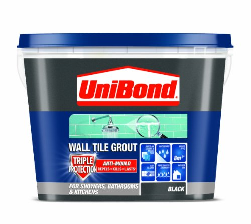 UniBond 1L Triple Protect Anti-Mould Wall Tile Grout - Black
