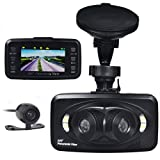 2.7 inch Displayer HD 1080P 3 Lenses Car DVR Dashcam Reversing Camera, 360° Panoramic G-sensor Black Box, 4 IR LED Night Vision, Motion Detect