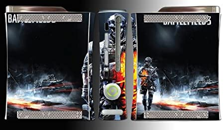Battlefield 3 FPS Shooter BF3 Bad Company 2 Game Vinyl Decal Skin Protector Cover for Microsoft Xbox 360