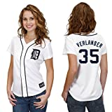 MLB Detroit Tigers Justin Verlander White Home Replica Baseball Womens Jersey, White