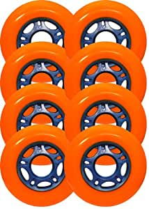 8 ASPHALT HOCKEY FORMULA Inline Skate Wheels 76mm 88a ORANGE Outdoor Grip