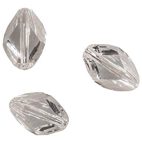 Rayher Hobby 14787120 Swarovski cristallo-Cubist-perla, 12 x 8 mm, SB-sacchetto 3 pcs, Pietra di luna