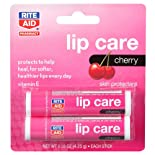 Rite Aid Lip Care, Cherry, 2 Pack