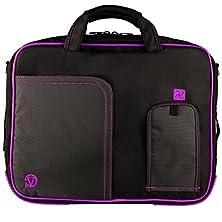 buy Purple Vg Pindar Edition Durable Messenger Shoulder Bag Case For Hp 17.3 Inch Laptop Models 4730S / 8760W / 8770W / Hp Pavilion Dv7-7030Us / G7-2010Nr / Dv7-7020Us / Dv7-7010Us / Hp Envy 17-3270Nr / 17-3290Nr + Sumaclife Tm Wisdom Courage Wristband