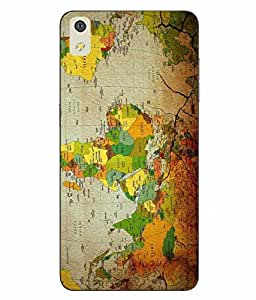 Snazzy Map Printed Multicolor Soft Back Cover For LYF WATER 8